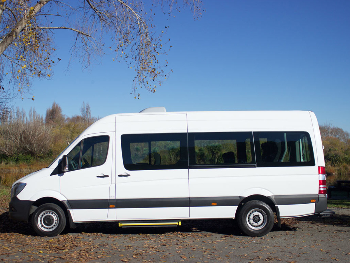 15 Seater Luxury Coach - Side